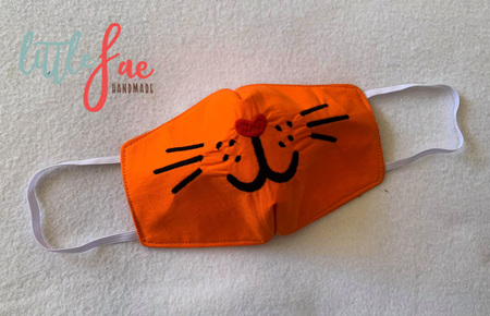 Face Mask Kitten Design 2