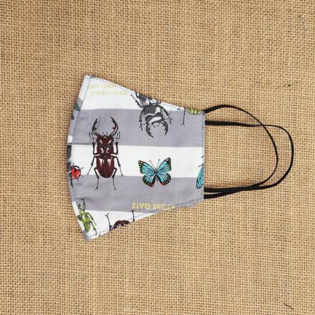 Face Mask Large Bugs n Beetles Print