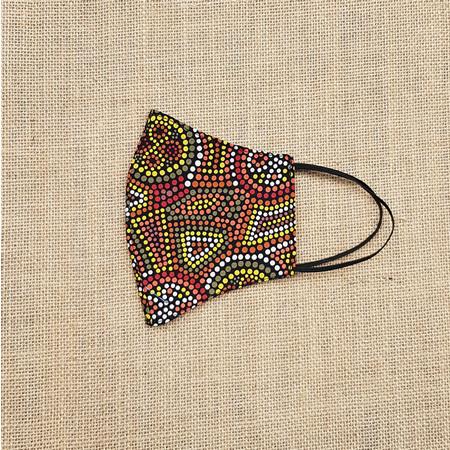 Face Mask Large Indigenous Australia Print