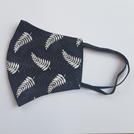 Face Mask Large Silver Fern Print