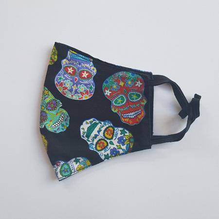 Face Mask Large Sugar Skull Multi Print