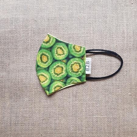 Face Mask Medium Kiwifruit Print