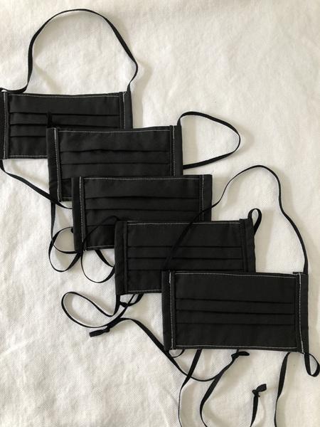 Face mask - Pack of 5 black masks