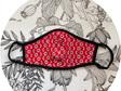 Face Mask Red & Black Floral