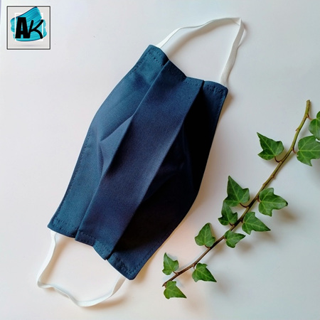 Face Mask - Small Denim Blue - Side Pleated
