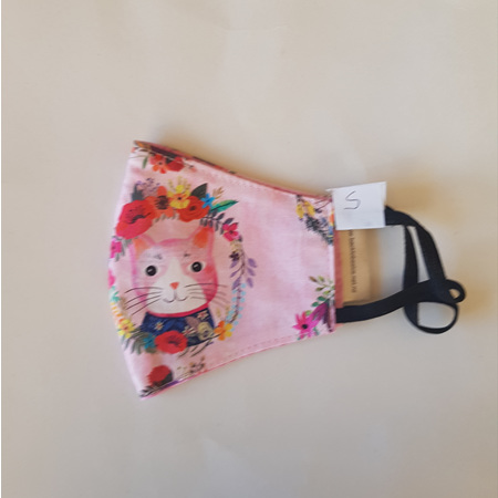 Face Mask Small Pink Cats Print