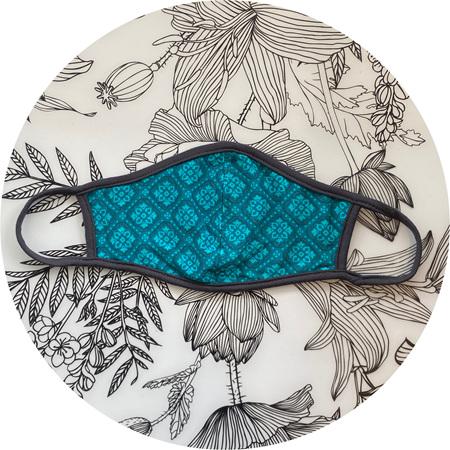 Face Mask Teal/Blue Design