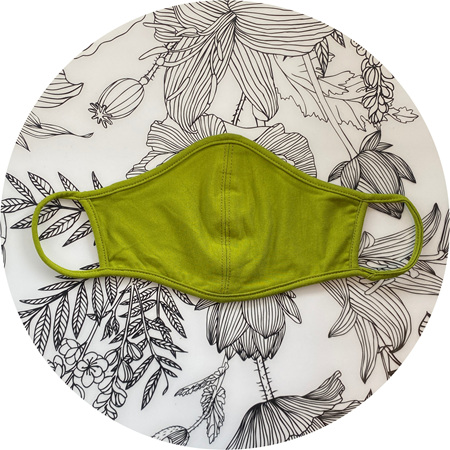 Face Mask Wasabi Green