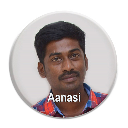 Face with Name ID Badge