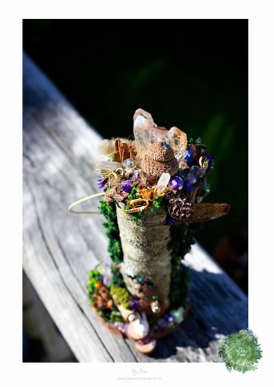 Faery Crystal Lodge Sculpture