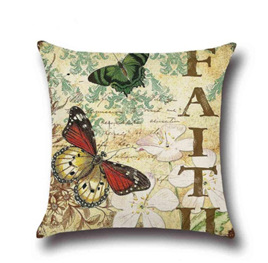 FAITH BUTTERFLY CUSHION COVER