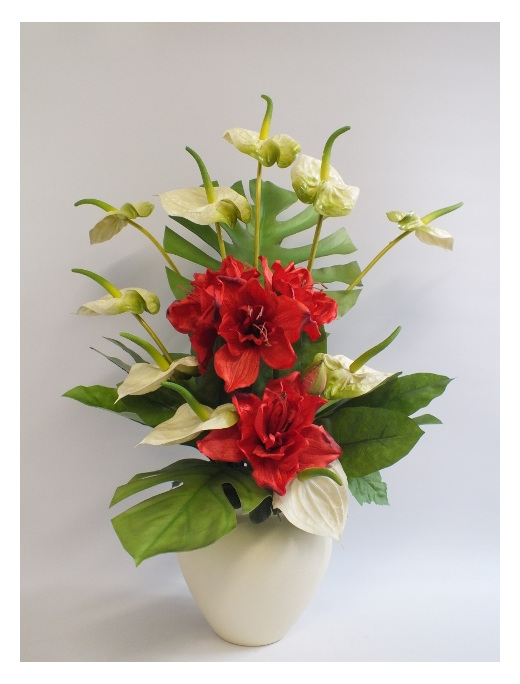 Silk flower company gallery flower decoration ideas tropical diversion 2066 the silk flower company fake false artificial silk faux anthurium amarylis mightylinksfo gallery mightylinksfo Image collections