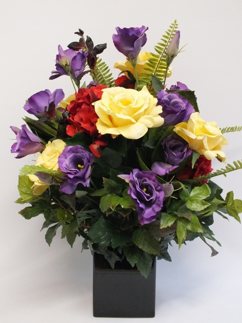 All round flower arrangement round designs first beauty 2090 the silk flower company mightylinksfo Image collections