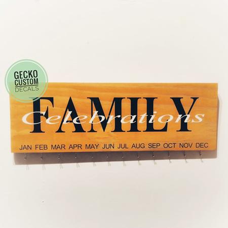 Family Birthday Board - Custom Writing