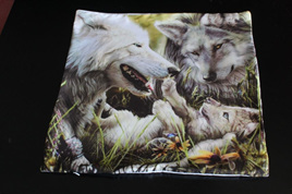 Family of Wolves Cushion Cover