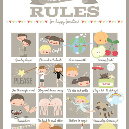 Family rules poster