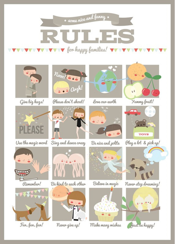 Family rules poster by Apanoa.