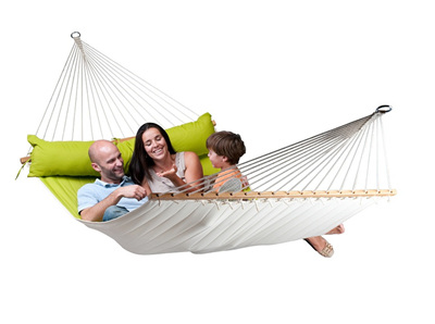 Spreader Bar Hammock - King Size - Avocado