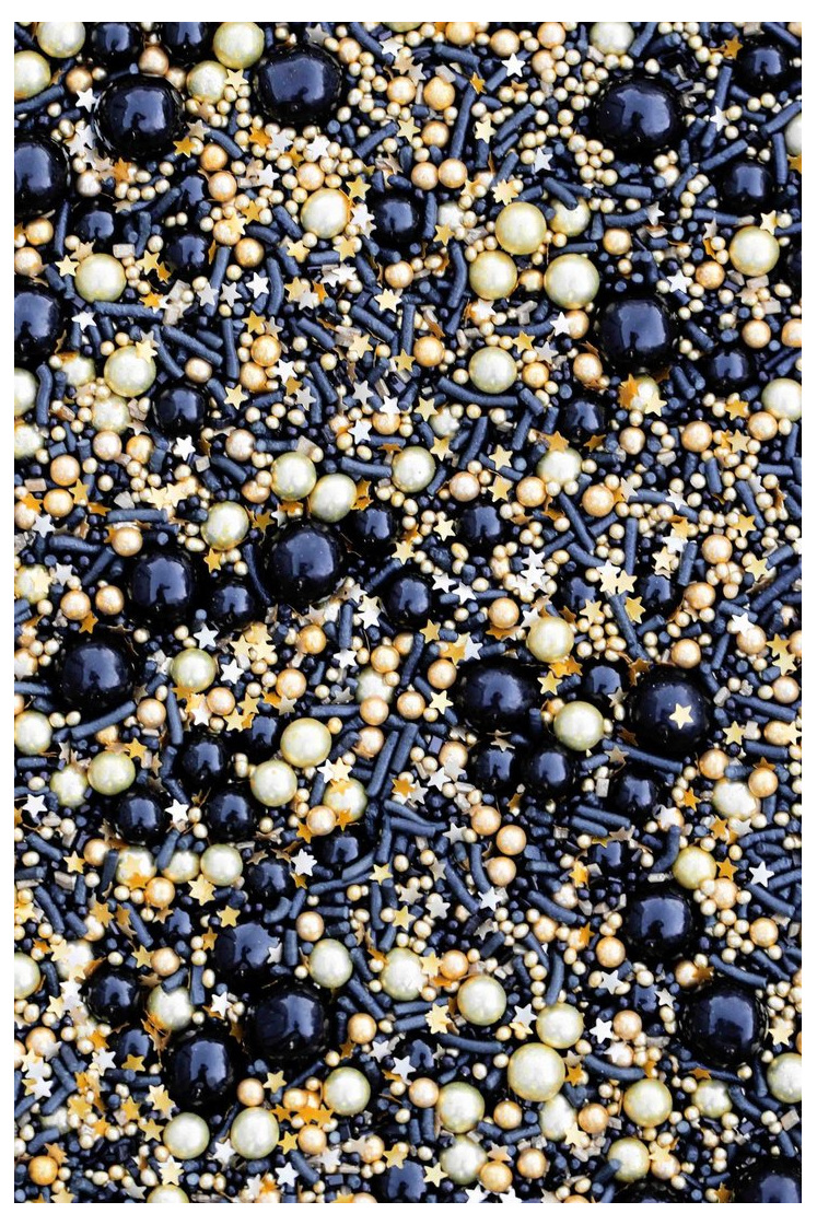 Fancy Sprinkle Black/Gold