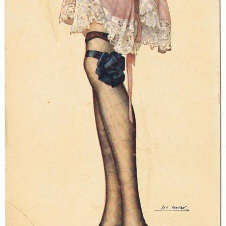Fancy Stockings Postcards