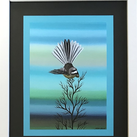 Fantail - Black/Blue - medium frame