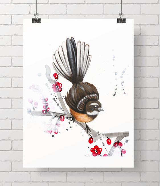 fantail - blossom