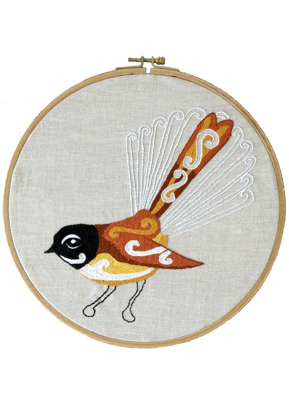 fantail embroidery pattern