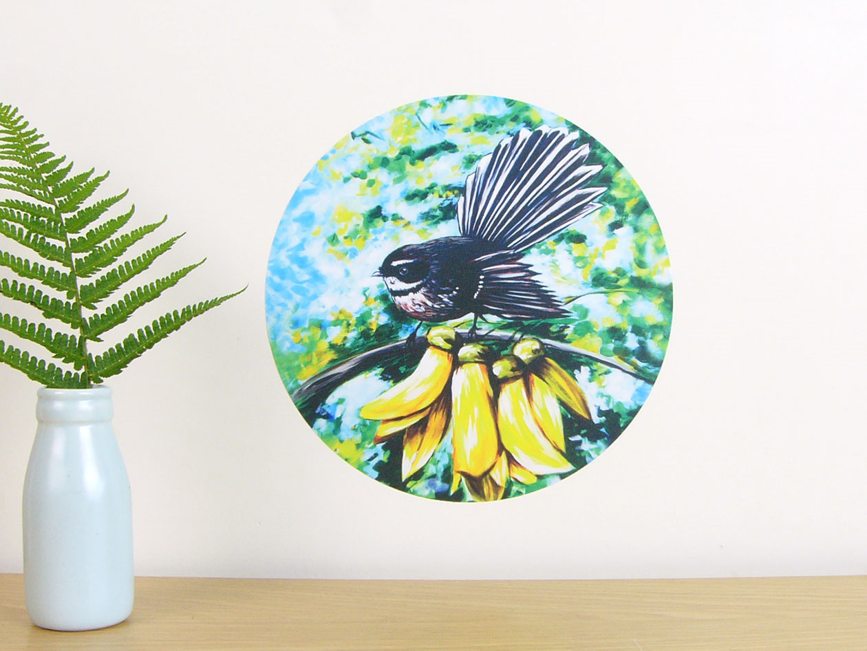 Wall decals by stickytiki quality reusable wall stickers made in fantail in kowhai wall decal dot amipublicfo Choice Image