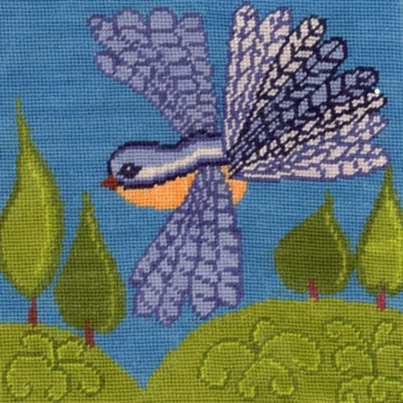 Fantail Needlepoint Cushion Kit by Mary Self