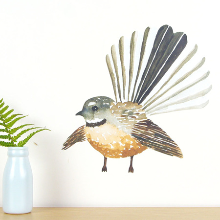 Fantail wall decal