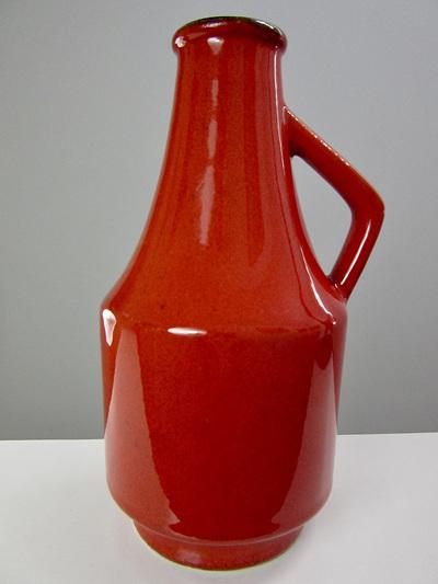 Fantastic Red West German Pottery Jug / Vase