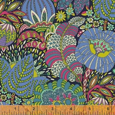 Fantasy - Lavender & Navy Floral