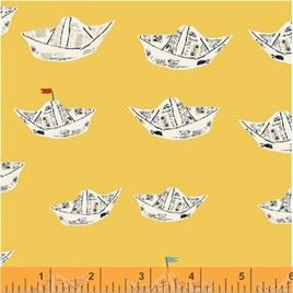 Far Far Away 2 Newspaper Boats in Yellow 512024