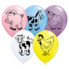 Farm Animals Balloons 11""