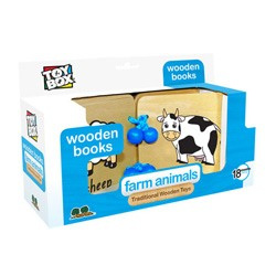 Farm Animals Wooden Book