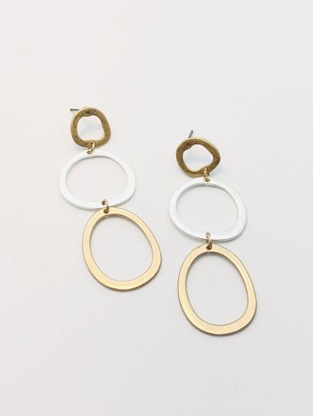 Fashion Earrings - 3 Circles