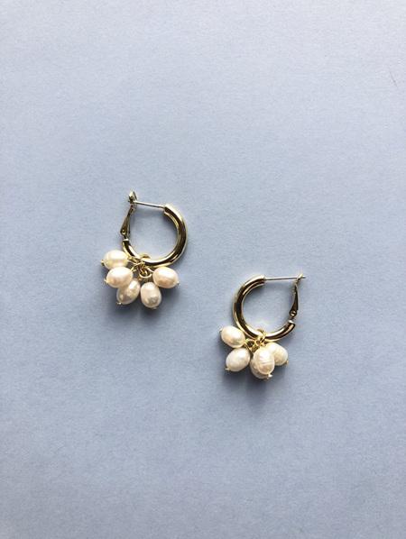 Fashion Earrings - Hoop Pearl Drops