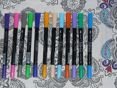 Fat Quarter and 4 Fabrico Pens