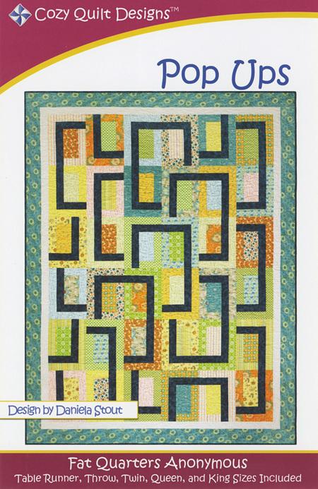 Fat Quarter Pop Ups Quilt Pattern from Cozy Quilt Designs