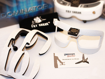 Fat Shark Fan Equipped Faceplate for DOM V2/HD White Version