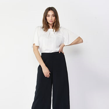 FATE AND BECKER ECLIPSE WIDE LEG CROPPED PANT