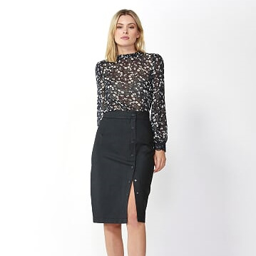 FATE AND BECKER INES BUTTON SKIRT