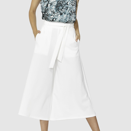FATE AND BECKER WHITE NOISE WIDE LEG PANTS
