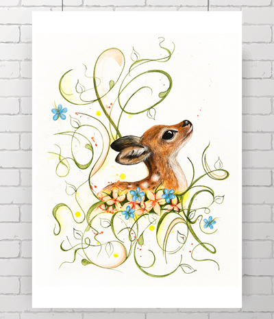 fawn - storybook fawn - the original painting