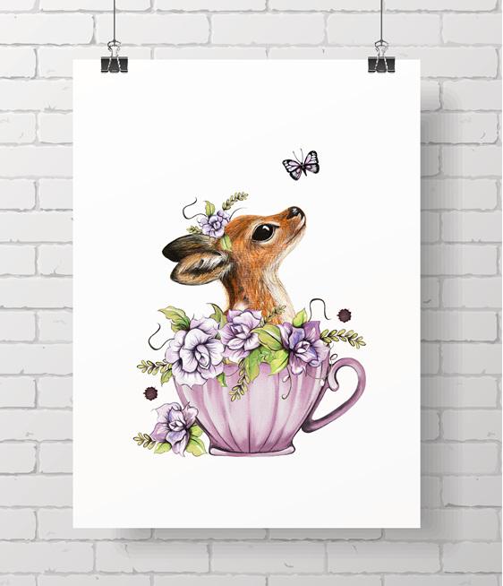 fawn - teacup