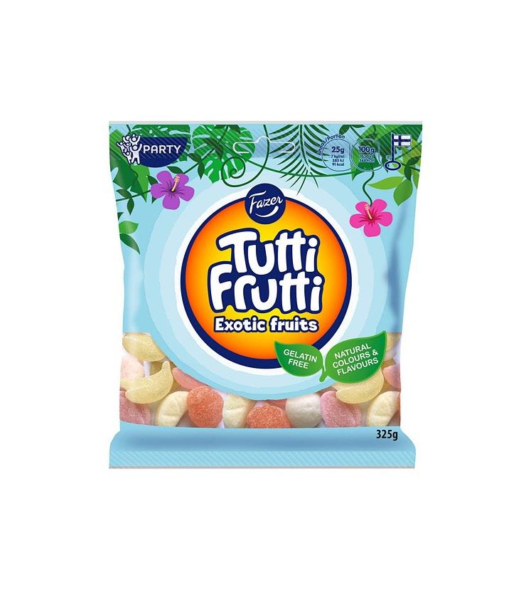 Fazer Tutti Frutti Exotic Fruits Family Bag 325g BB: 11/10/21