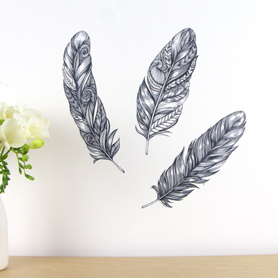 Feathers wall decal
