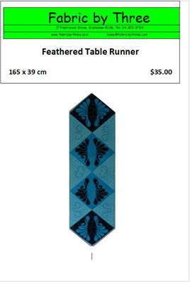 Feathered Table Runner