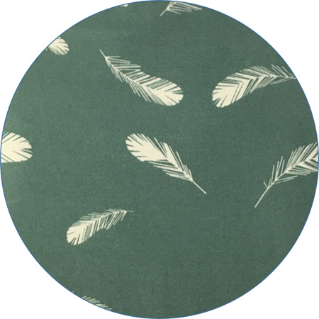 """""""Feathers"""",  Mineral,  GOTS Organic Cotton Knit, 210gsm"""