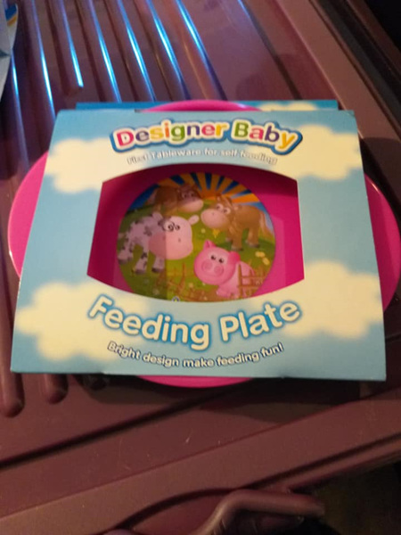 FEEDING PLATE - PINK